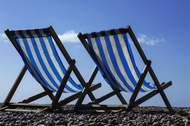 silla playa rayas