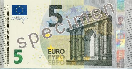 billete cinco euros