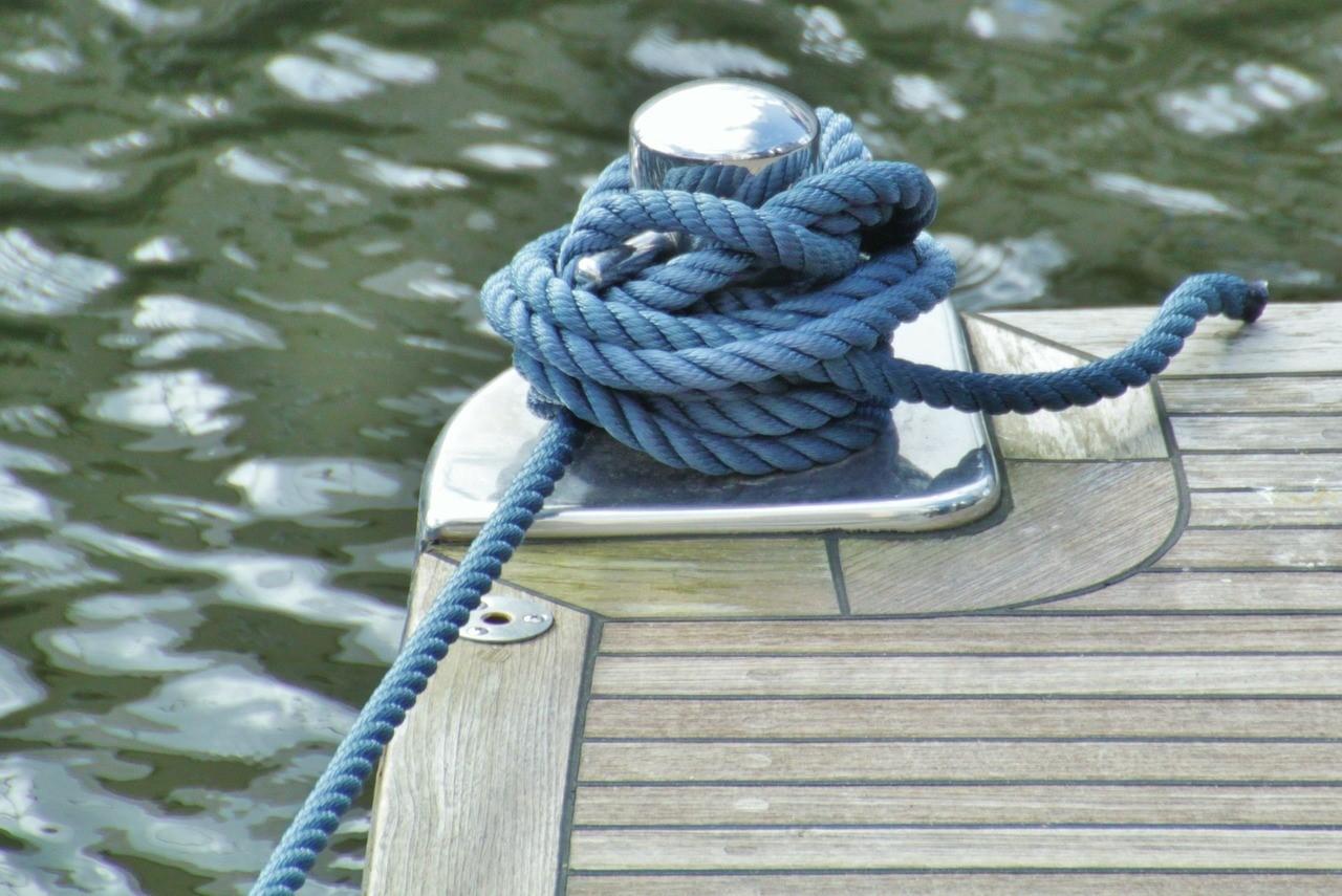amarre cuerda puerto