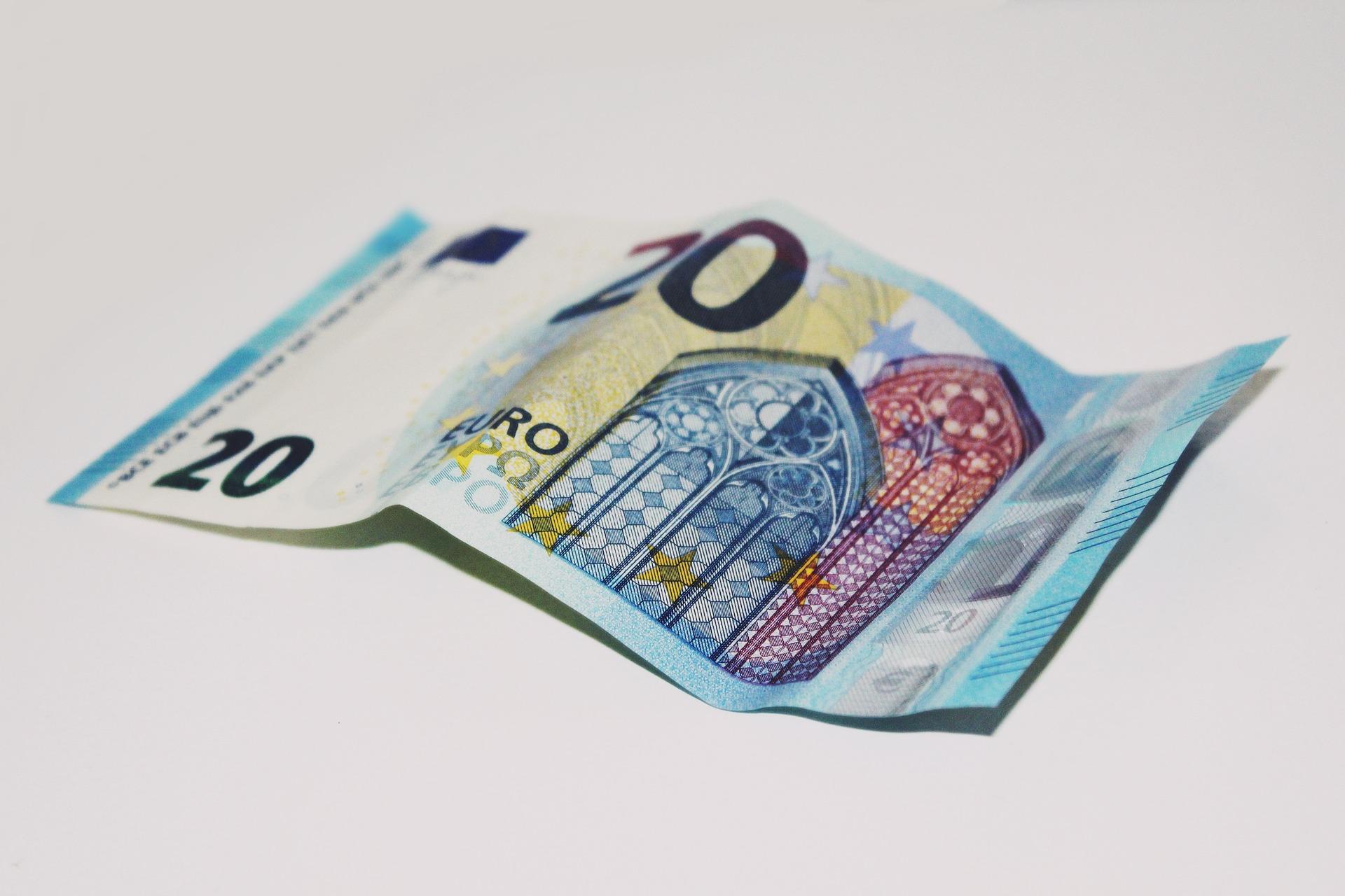 billete azul veinte euros