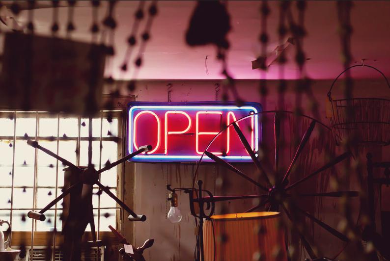 open tienda bombilla