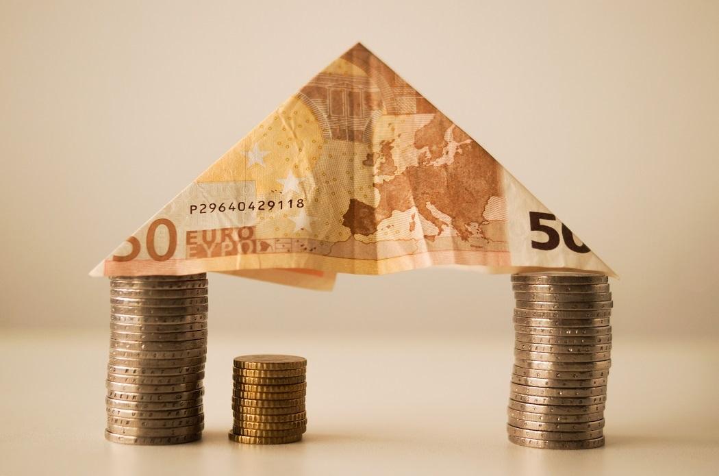 dinero casa monedas billete