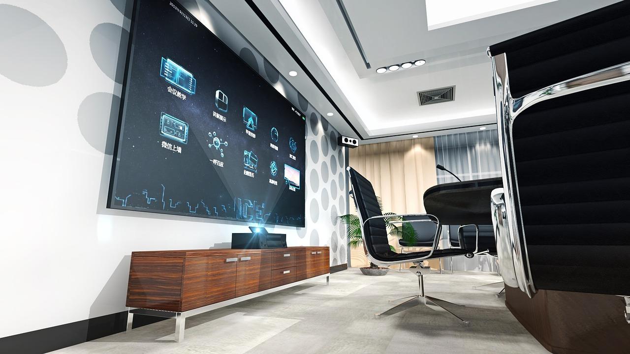sala conferencia pantalla presentaciones