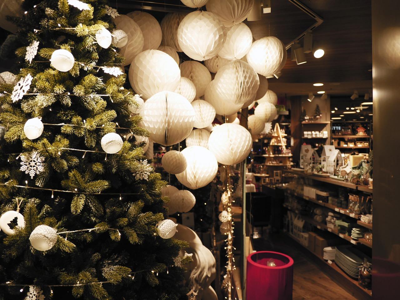 luces tienda navidad arbol