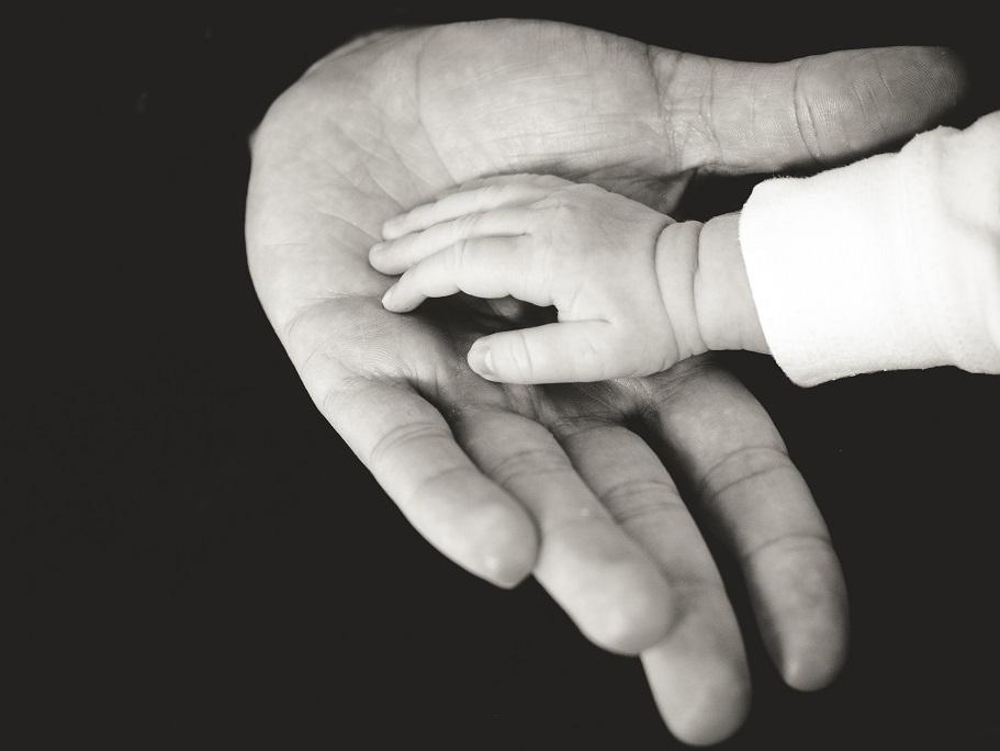 manos bebe adulto