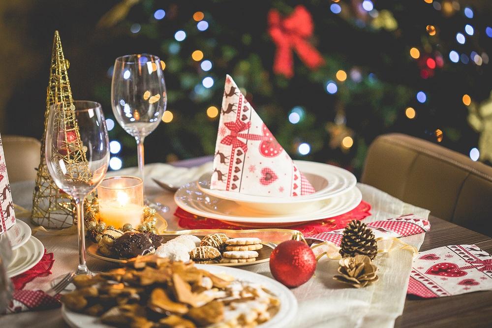 mesa navidad adornos