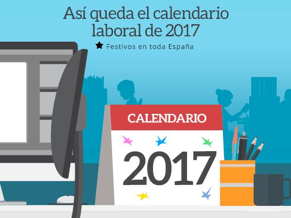 calendario laboral infografía ilustracion