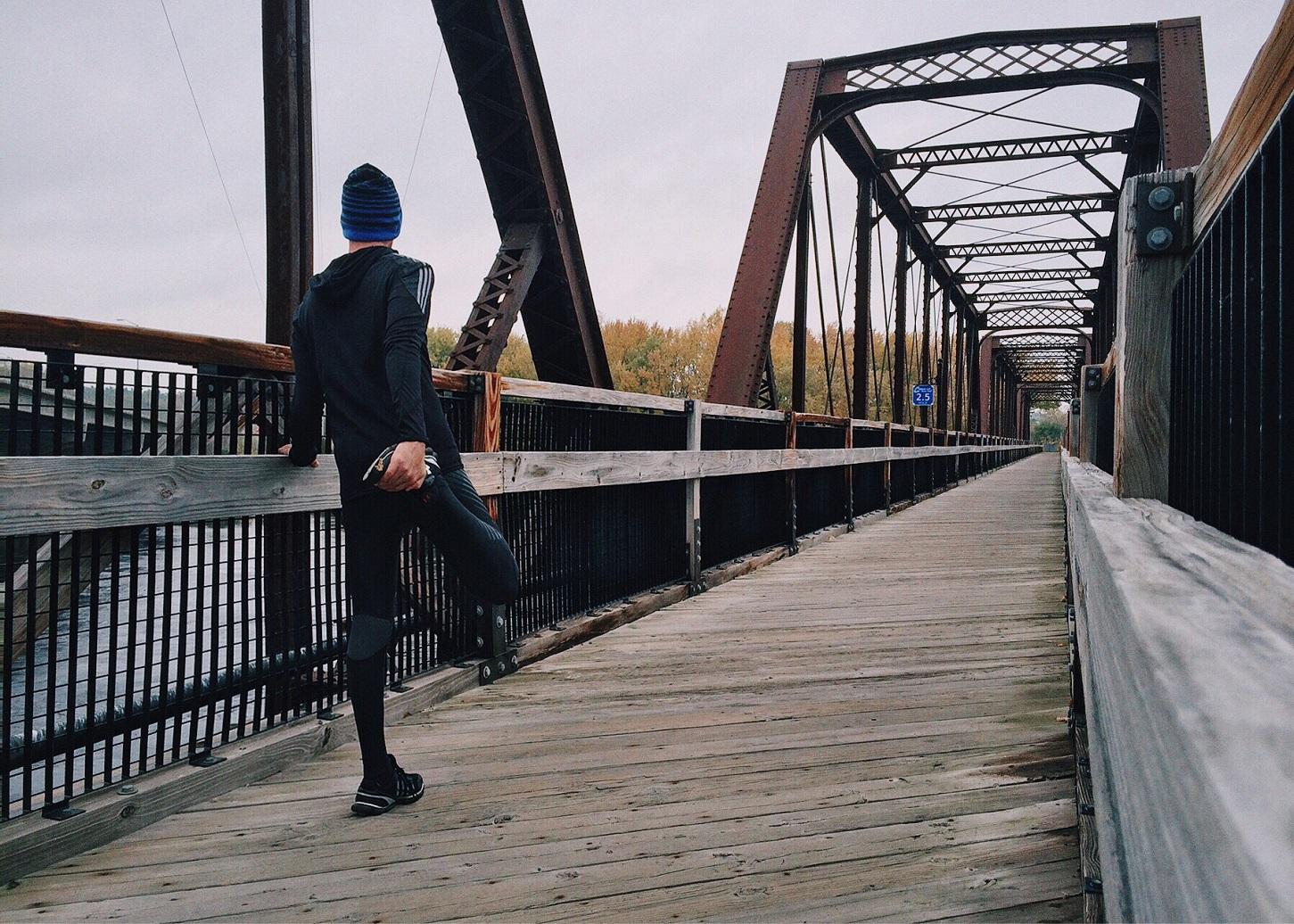corredor puente estiramientos