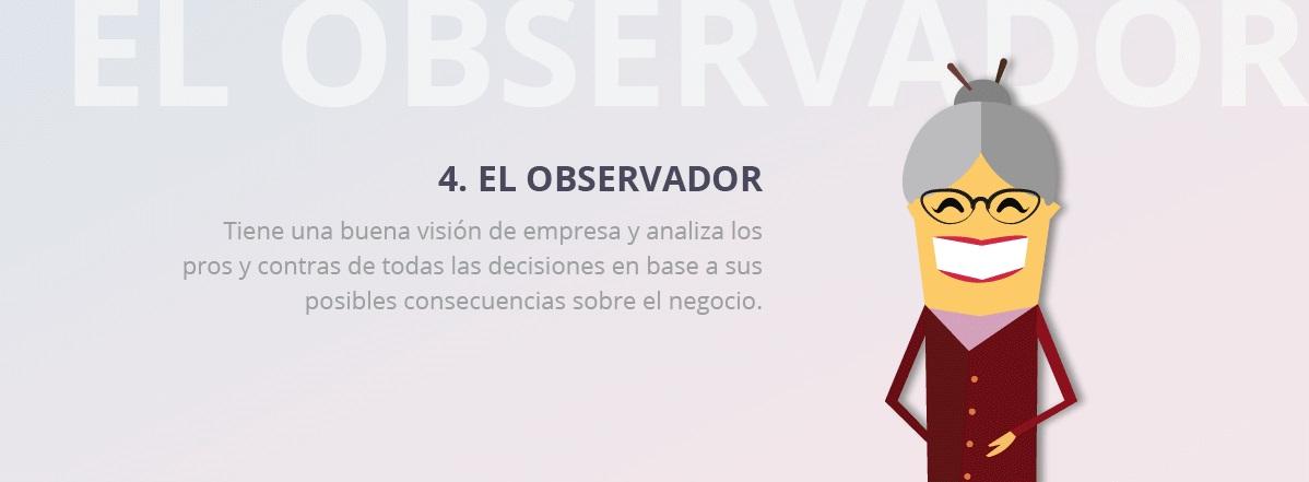 perfil observador equipo trabajo