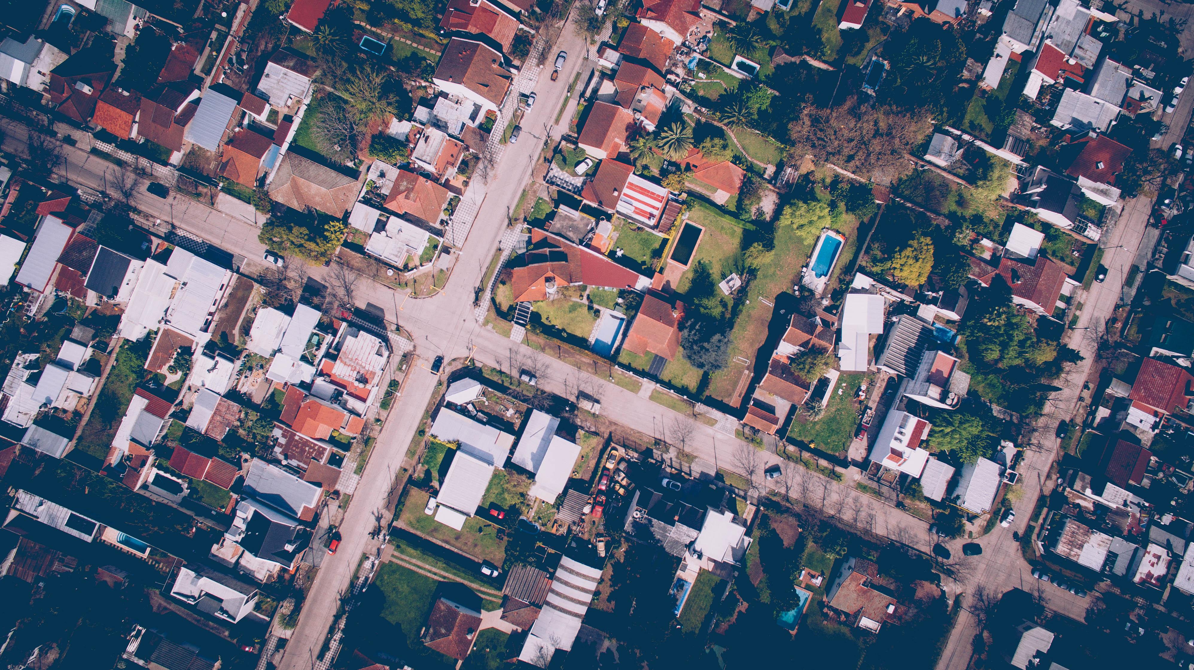 barrio casas plano cenital