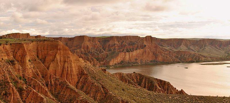 barrancas burujon paisaje rojizo