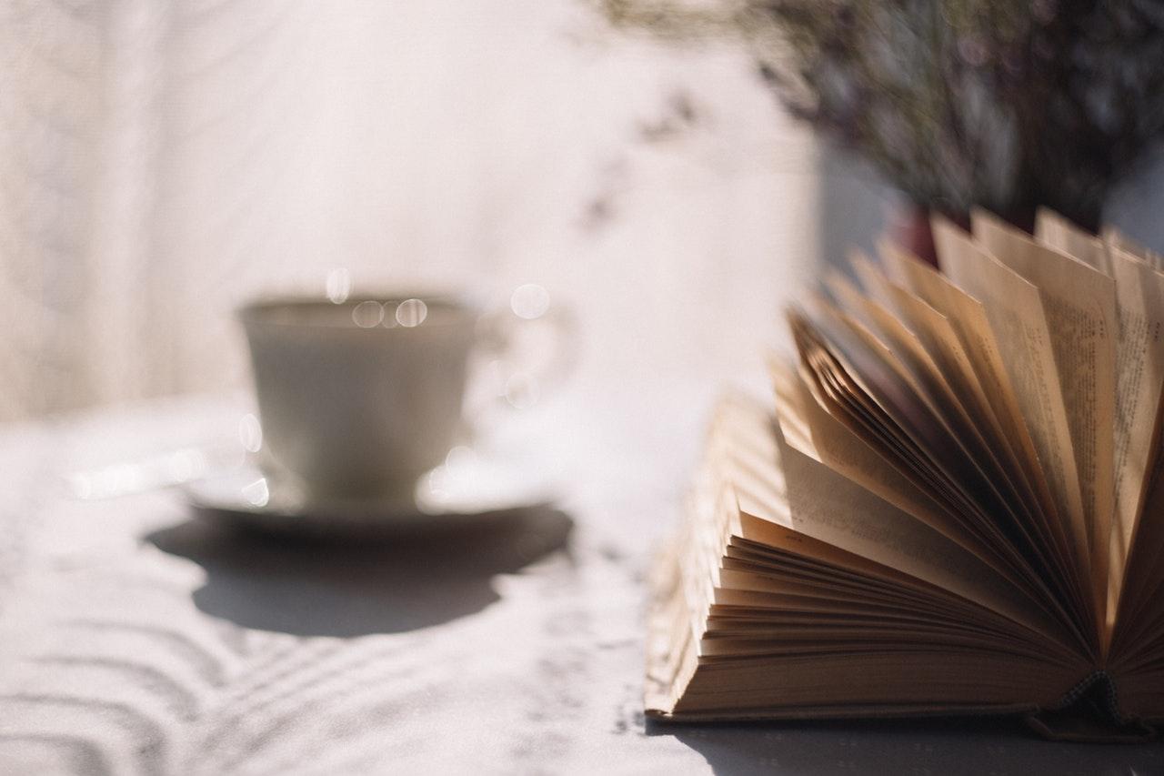 cafe lectura libro hojas