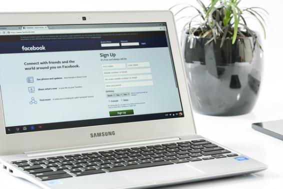 ordenador portatil perfil facebook